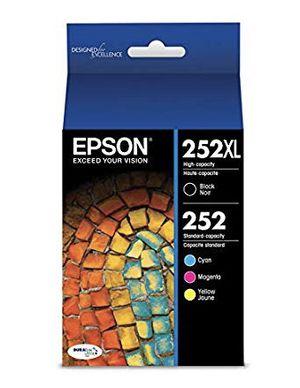 Epson 252XL Ink Cartridges (black, cyan, magenta, yellow) for Sale in Joliet, IL