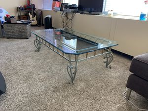 Antique Glass Ornate Coffee Table for Sale in Chicago, IL