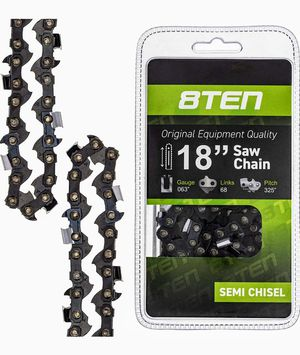 8TEN Chainsaw Chain 18 Inch Bar .063 Gauge .325 Pitch 68 Dirve Links for Stihl Husqvarna for Sale in Las Vegas, NV