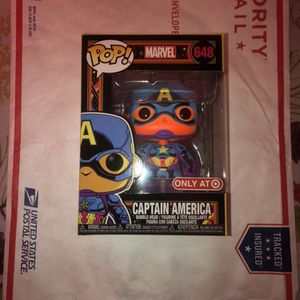 Funko Pop! Marvel: Black Light - Captain America Vinyl Figure #648 (Target Exclusive) for Sale in Smithtown, NY