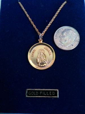 Saint Jessica Gold Filled Medal on an 18in Gold Plated Chain. Religious jewelry. for Sale in Stockton, CA
