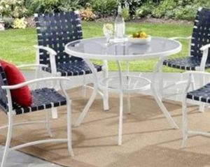 New!! New!! 5 pc dinning set, Patio set, conversaion set, outdoor set, Patio Furniture , blue and white for Sale in Phoenix, AZ