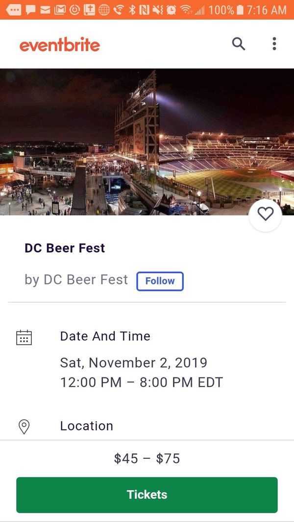 3 DC Beer Festival Tickets