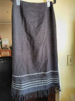 Nine & Co gray wool fringe long skirt for Sale in Glendale, AZ