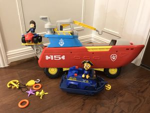Paw Patrol Sea Patroller and pirate boat and pup for Sale in Houston, TX