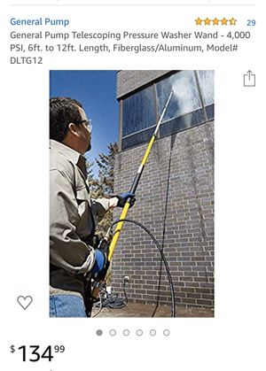 General Pump Telescoping Pressure Washer Wand - 4,000 PSI, 6ft. to 12ft. Length, Fiberglass/Aluminum, Model# DLTG12 for Sale in Los Angeles, CA