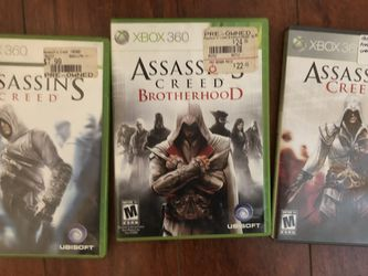 Assassin Creed Xbox 360 Video games Set ($15 For All) for Sale in La Habra Heights,  CA