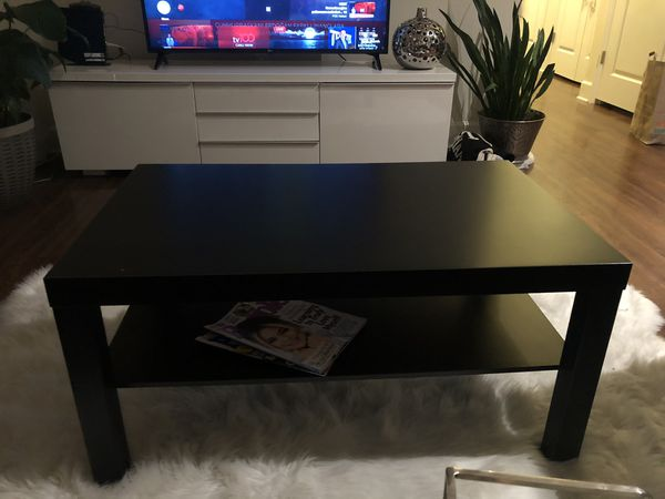 Black contemporary coffee table 35X21