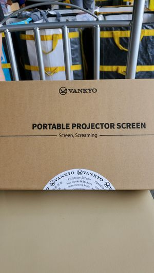 VANKYO StayTrue Projector Screen, 120 Inch Projection Screen 4K HD, 16:9, Foldable Wrinkle-Free Movies Screen(1.1 GAIN, 160°Viewing) for Home Theater for Sale in Atlanta, GA