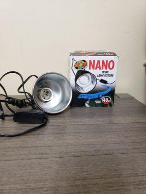 Zoo Med nano dome lamp fixture 3 1/2 inch 40 watt for Sale in Potterville, MI