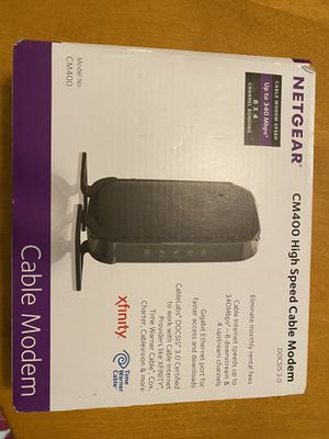 Netgear high speed cable modem for Sale in Chelan, WA