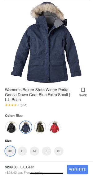LL BEAN Woman winter parka size XS for Sale in San Francisco, CA