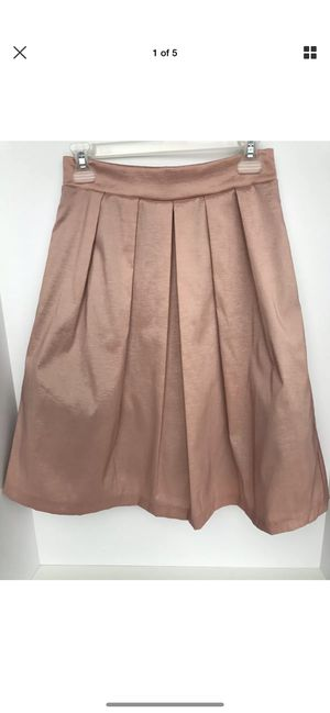 Chetta B. Full Midi Skirt Metallic Pink Lined Tulle Size 6 Made in USA for Sale in Oceanside, CA