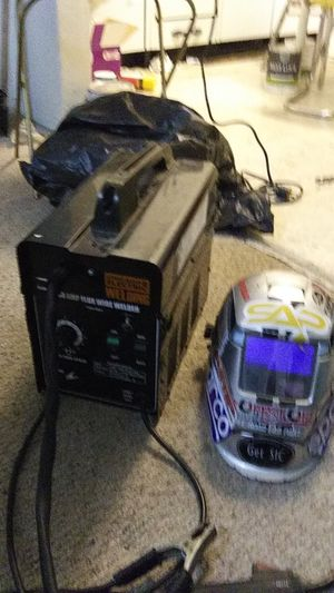 Chicago Electric 90 amp flux wire welder with hood for Sale in Springerville, AZ