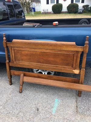 Full Bed Frame (metal rails included) for Sale in Portsmouth, VA