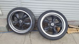 20 inch American racing wheels good tires fit charger 300 c 05 thru 09 trade possible for Sale in Wenatchee, WA
