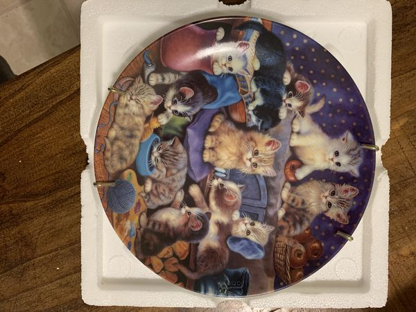 Collection Of Knowles Cat Plates