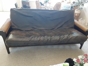 Leather futon for Sale in Port St. Lucie, FL