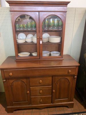 Antique cherry China cabinet for Sale in St. Louis, MO