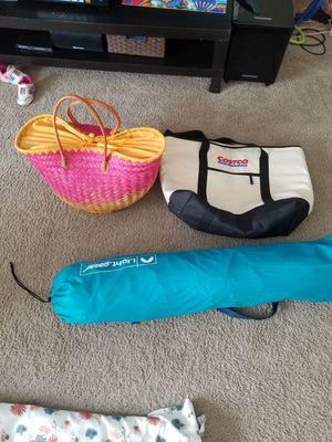Beach Tent, Beach Basket, Beach Bag for Sale in Weston, MA