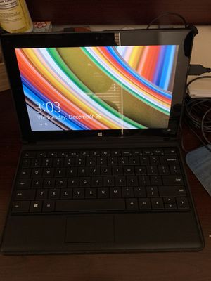 Microsoft Surface RT tablet with keyboard, case, charger & Mouse for Sale in Naperville, IL