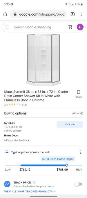 Maxx 3 wall glass Corner Shower for Sale in Salina, KS