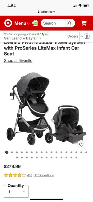 Evenflo car seat and stroller for Sale in Oakland, CA