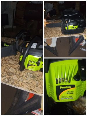 "16"" Poulan Gas Powered Chainsaw and Covers. for Sale in Oakley, CA"