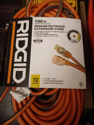 RIDGID 100ft HEAVY DUTY EXTENSION CORD for Sale in Santa Ana, CA