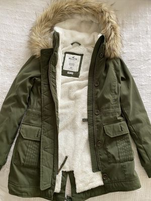 Hollister Heritage women's olive green parka/jacket size xs for Sale in Redondo Beach, CA