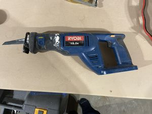 Ryobi RJC181 Reciprocating Saw 18 V Battery Powered (Cordless) TOOL ONLY for Sale in New Canaan, CT