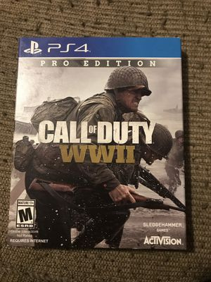 Call of duty WWII Pro Edition with steel case PS4 for Sale in Wichita, KS