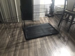 Folding Door Pet Crate with Tray for Sale in Los Angeles, CA