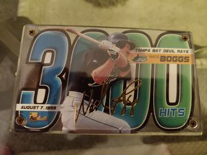 Wade Boggs 3000 hit card, authentic brand,numbered 1490 of 1999 for Sale in St. Petersburg, FL