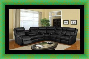 Cshape sectional black bonded leather for Sale in Washington, DC