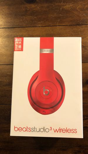 Beats studio 3 wireless Bluetooth headphones red in sealed box for Sale in Spring Hill, TN
