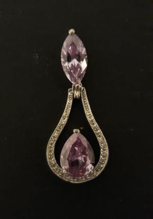 Stunning Silver Toned, Amethyst Statememt Pendant for Sale in Seattle, WA