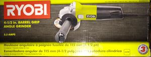 RYOBI 5.5 Amp Corded 4-1/2 in. Angle Grinder for Sale in Temple, GA