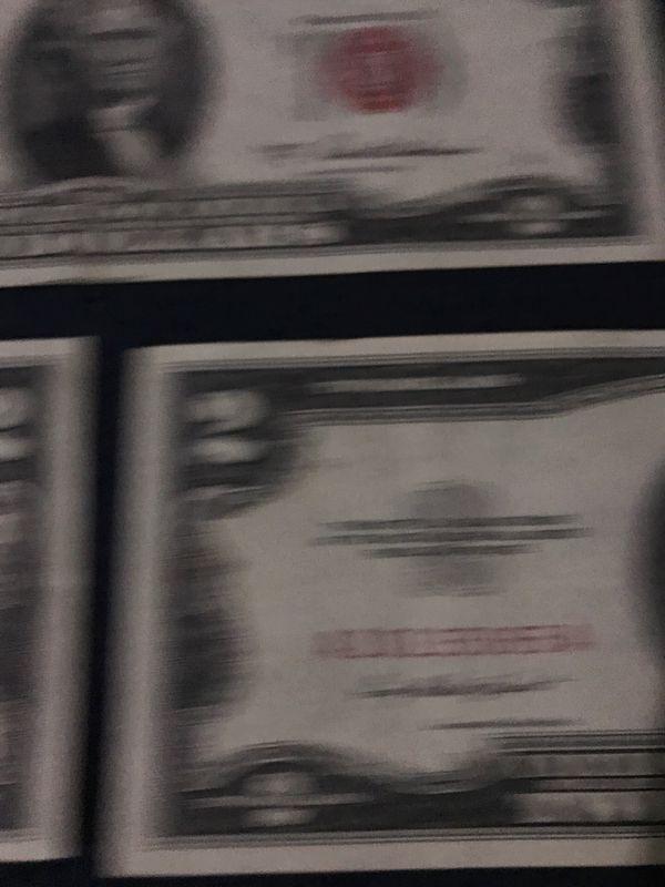 $2 bills 1953-1963 7 pieces