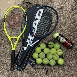 Tennis Rackets And Balls for Sale in Redmond, WA