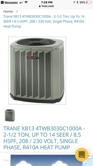 Like new Trane AC condenser R22 for Sale in New Square, NY
