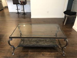 Rectangle /glass/ marble coffee table . Like new condition. for Sale in Commack, NY