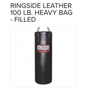 Ringside leather 100 lb heavy bag for Sale in Salt Lake City, UT