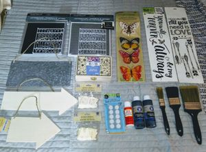 All Nwt's 18 Piece Crafting Lot & 2 Nwt's LetterBoards for Sale in Sellersburg, IN