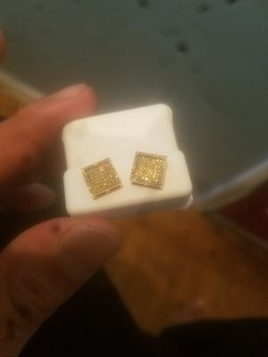 Cannary yellow diamond earrings set for Sale in San Francisco, CA