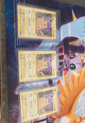 3 Pokemon Pikachu 35/108 Mint Condition 2016 Evolutions Event Card Ultra for Sale in Southwest Ranches, FL