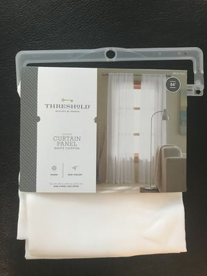 White Chiffon Curtain Panel for Sale in Beverly Hills, CA