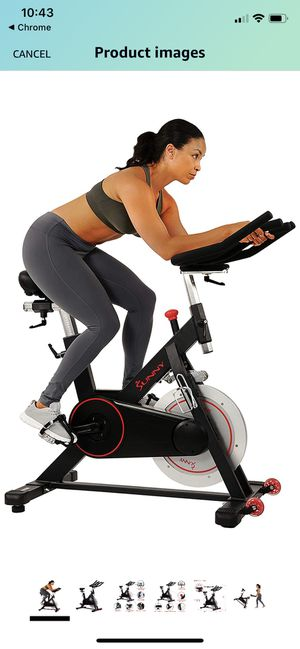 Magnetic Belt Drive Indoor Cycling Bike W/ 44 lb Flywheel and Large Device Holder, for Sale in Las Vegas, NV