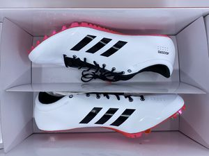 ADIDAS ADIZERO PRIME SP TRACK SPIKES WHITE/BLACK/RED B37494 MEN'S SIZE 11.5 for Sale in Clinton, MD