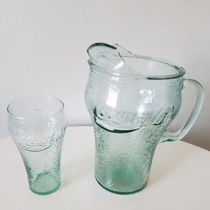 Vintage Coca Cola Glass Pitcher & Tumbler for Sale in Wilmington, DE